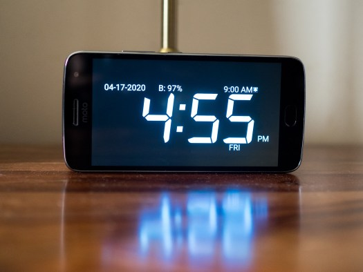 Android alarm on nightstand