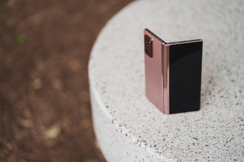 Samsung Galaxy Z Fold 2 standing