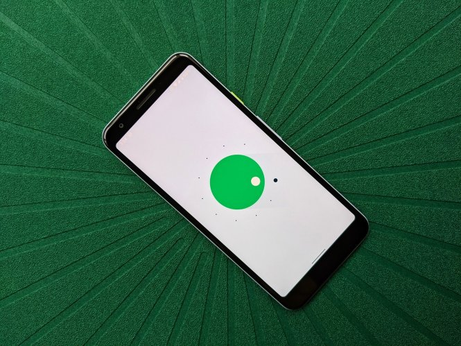 Android 11 Easter Egg on Pixel 3a