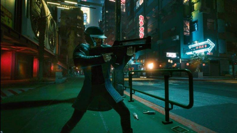 Cyberpunk 2077 Stadia Aiming Gun Web Browser