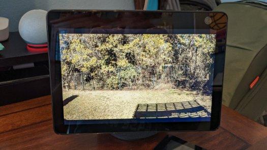 Amazon Echo Show 10 Backyard