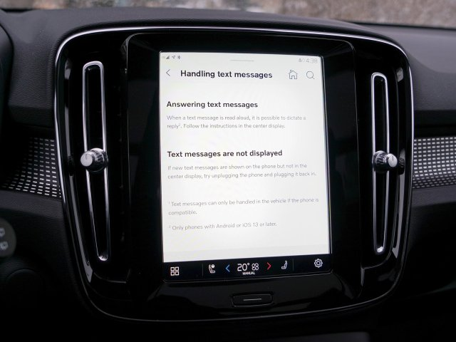 Android Automotive Handling Texts