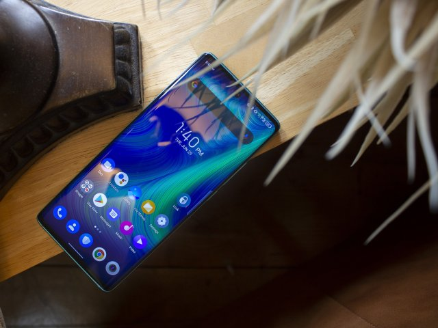 Tcl 20 Pro 5g Marine Blue Front Display