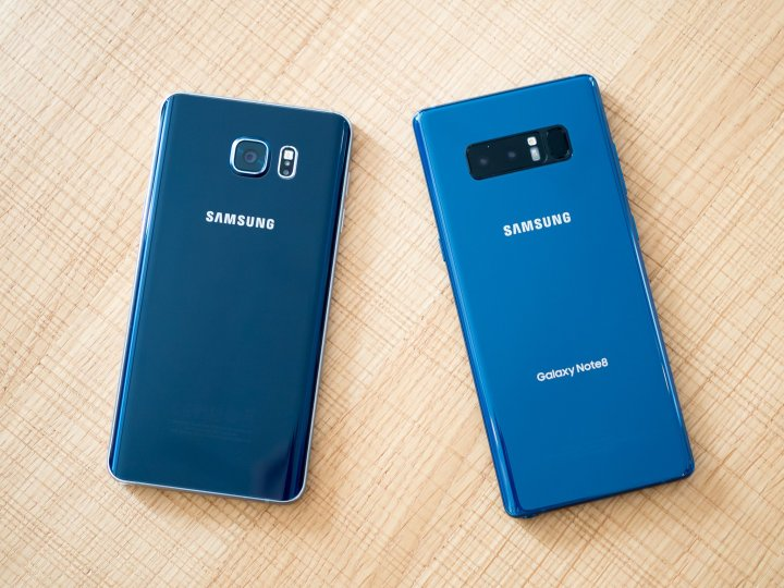 Samsung Galaxy Note 8 and Galaxy Note 5