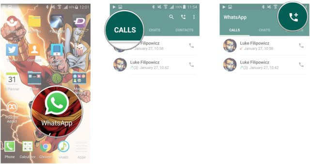 How to make and receive calls with WhatsApp for Android | Android ...