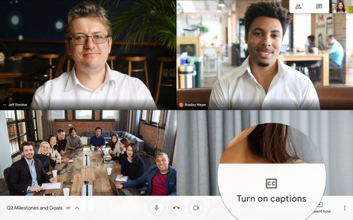 Google Hangouts Meet for Android now supports live captions ...
