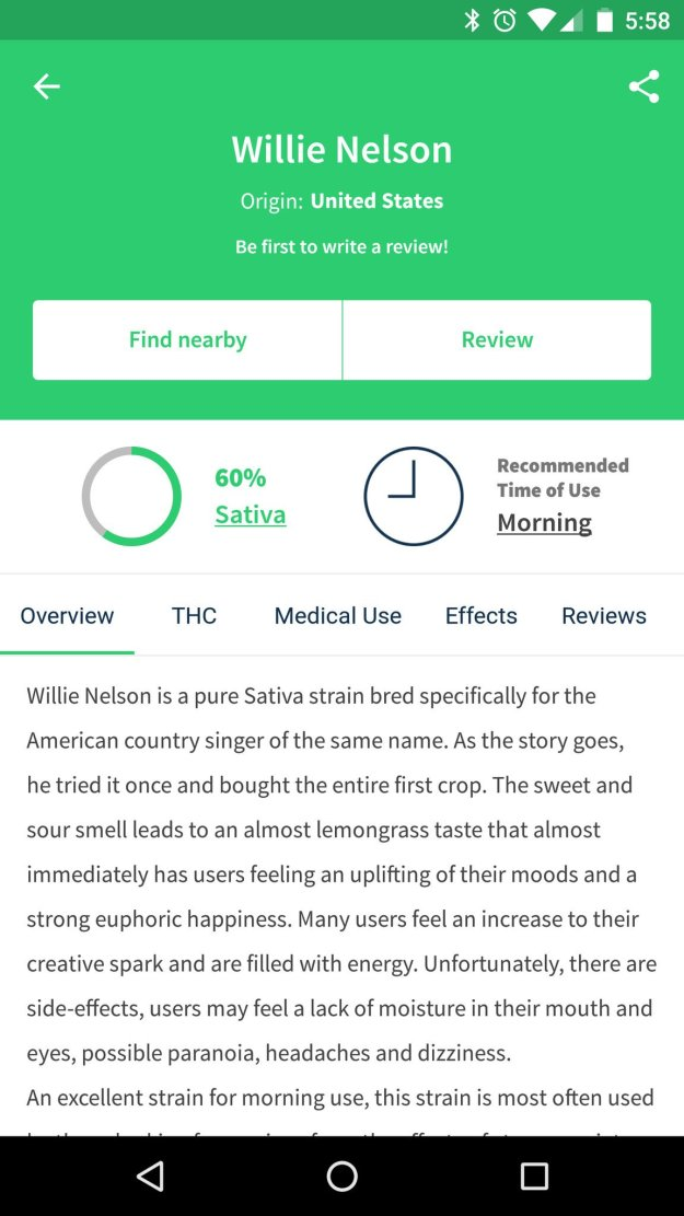 Wikileaf app helps you find the (legal) herb youre looking for