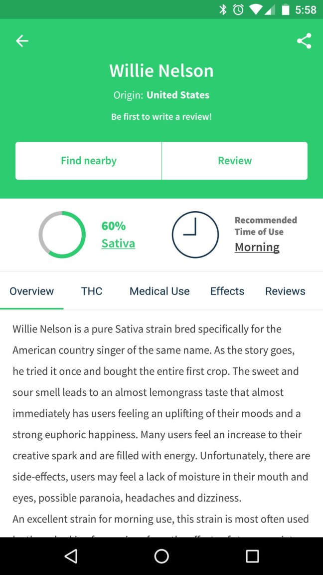 wikileaf-2 Wikileaf app helps you find the (legal) herb you're looking for Android
