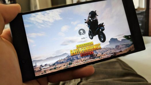 PUBG Mobile playing on a Razer Phone 2