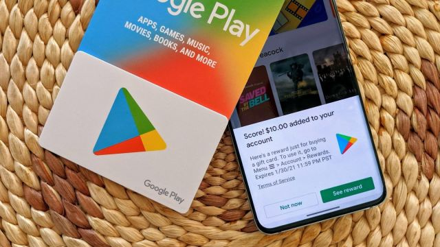 Google Play Gift Card with S20