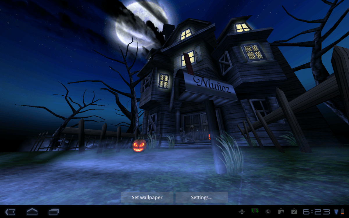 android wallpaper review: haunted house hd | android central