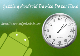 android-get-current-date-time