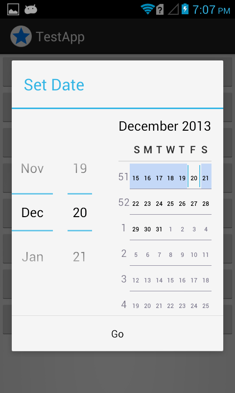 android alertdialog with datepicker