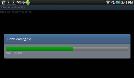 Android Download File With Progress Bar Example - Android Code Ninja