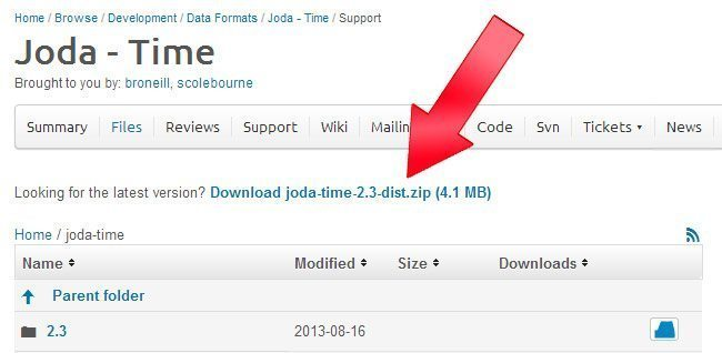 How to Use Joda Time in Eclipse?