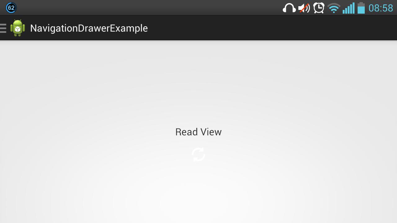 android navigation drawer horizontal closed
