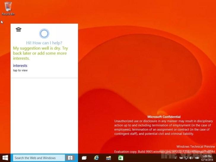 Windows 10 Sızıntı Fotoğraf