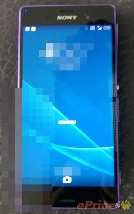 Sony Xperia Z3'ün Mor Modeli İnternete Sızdı