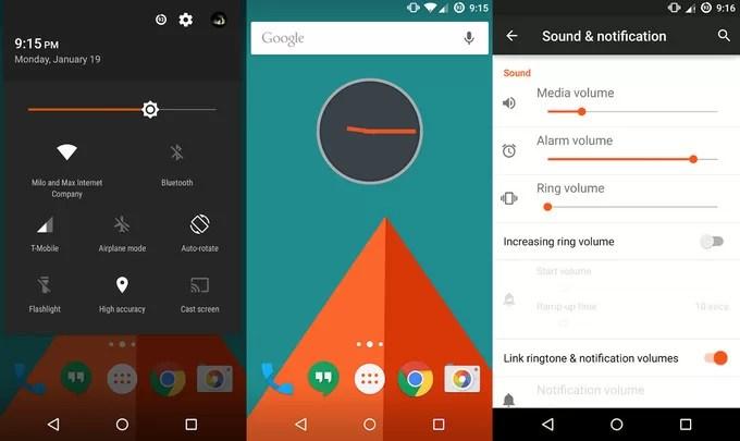 Tema Renk Seçimi Android 7