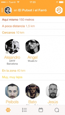 App de encuentros Swarm