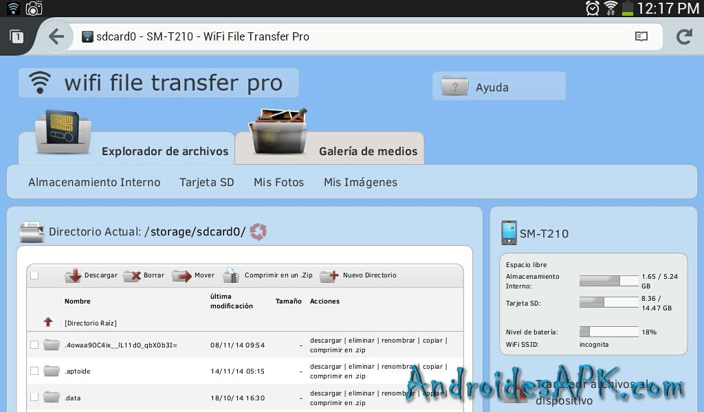 Tranferir archivos WiFi File Transfer