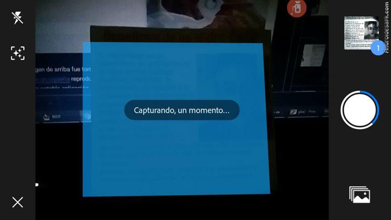 Escaneando documento en Adobe Scan