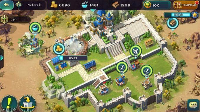 Art of Conquest construcción de fortaleza