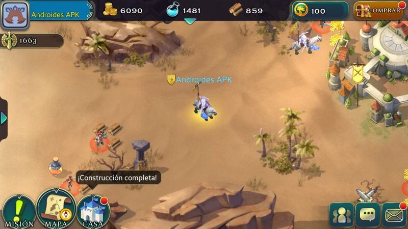 Exploración de mapa para conseguir combates y recursos