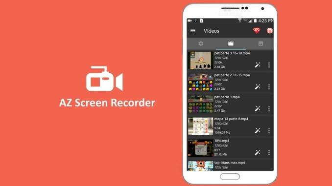 az screen recorder: Aplicación para grabar pantalla android