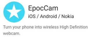 Pagina oficial de EpocCam