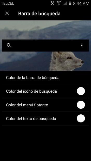 Personalización de barra de busqueda de Fast Finder