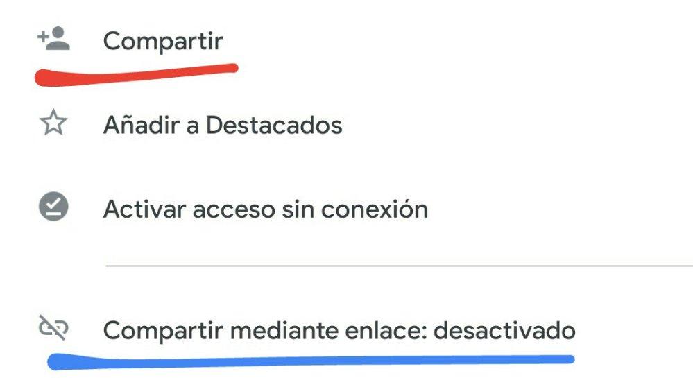 2 formas de compartir Google Drive