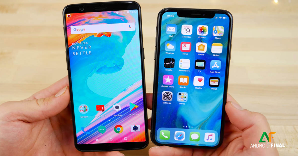 Android mais potente do mundo contra o iPhone X