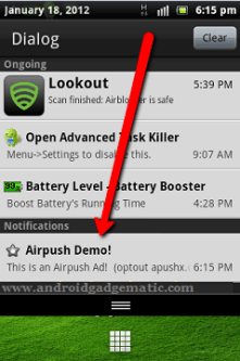 Remove Android Phone's Notification Area Ads Quickly – Airpush