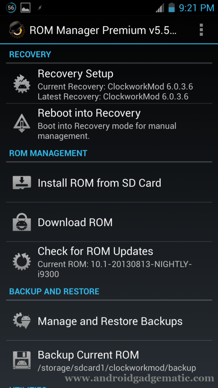 Install Update Official CWM Recovery Android – Touch – Non Touch