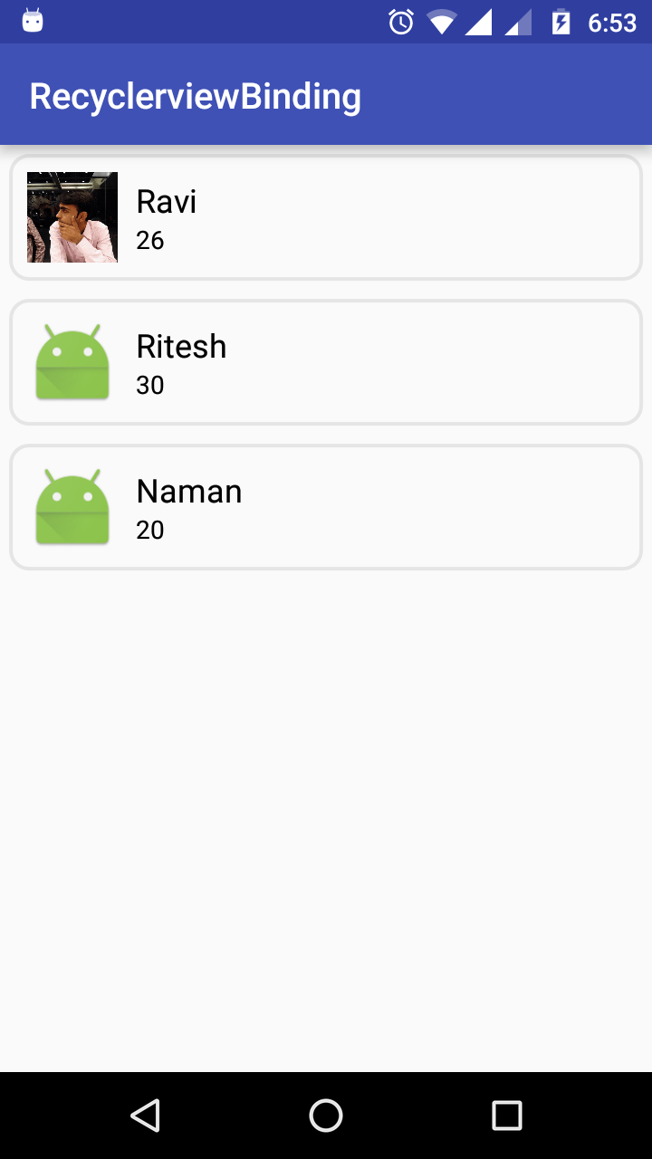 RecyclerView Android DataBinding