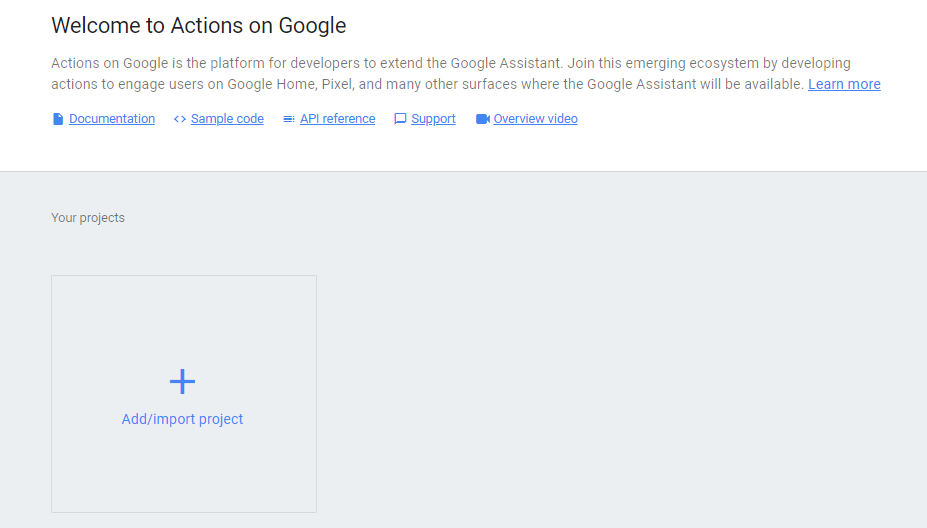 actions on google console