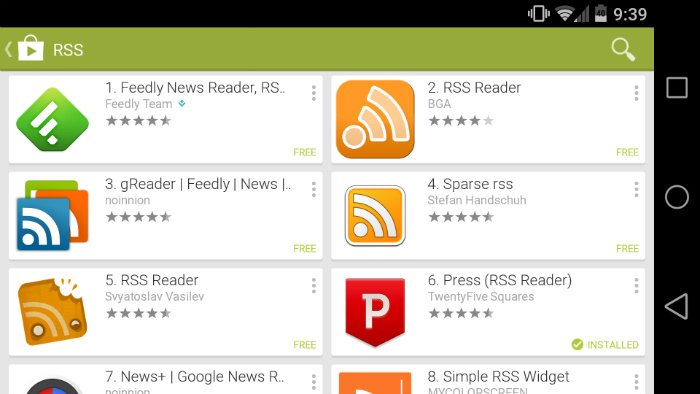 The best paid RSS reader apps for Android | AIVAnet