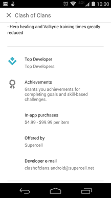 play store in app purchases developers address