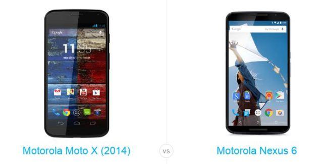 moto x 2014 vs nexus 6