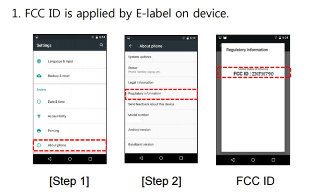 Nexus 5X fcc filing