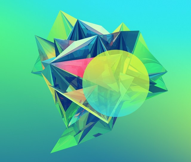 Abstract Colored Diamond Crystaline Geometry
