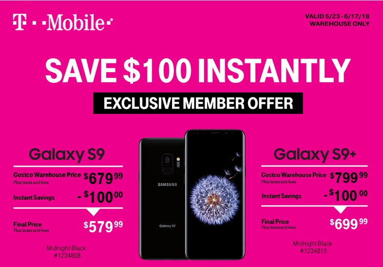Costco has a great deal on the T-Mobile Galaxy S9 and ... on Costco Phone Deals id=14064