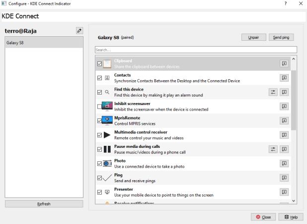 Windows Phone: KDE Connect