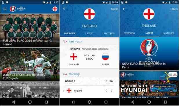 UEFA Euro 2016 official app image_1