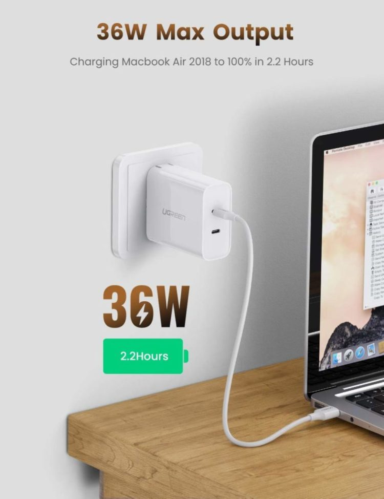 UGREEN 36W PD charger image 3