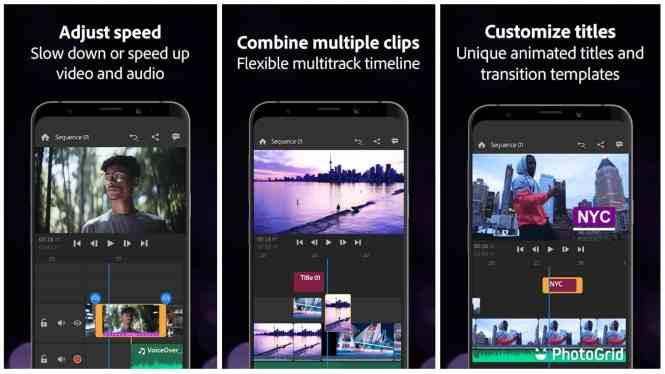 Adobe Premiere Rush app grid image 1