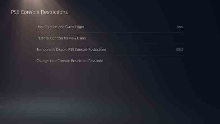 Parental Controls on the PS5 1