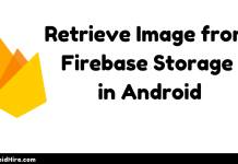 Retrieve Image from Firebase Storage