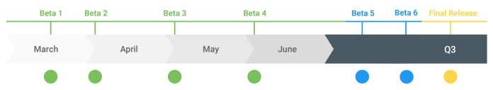 Android Q Timeline
